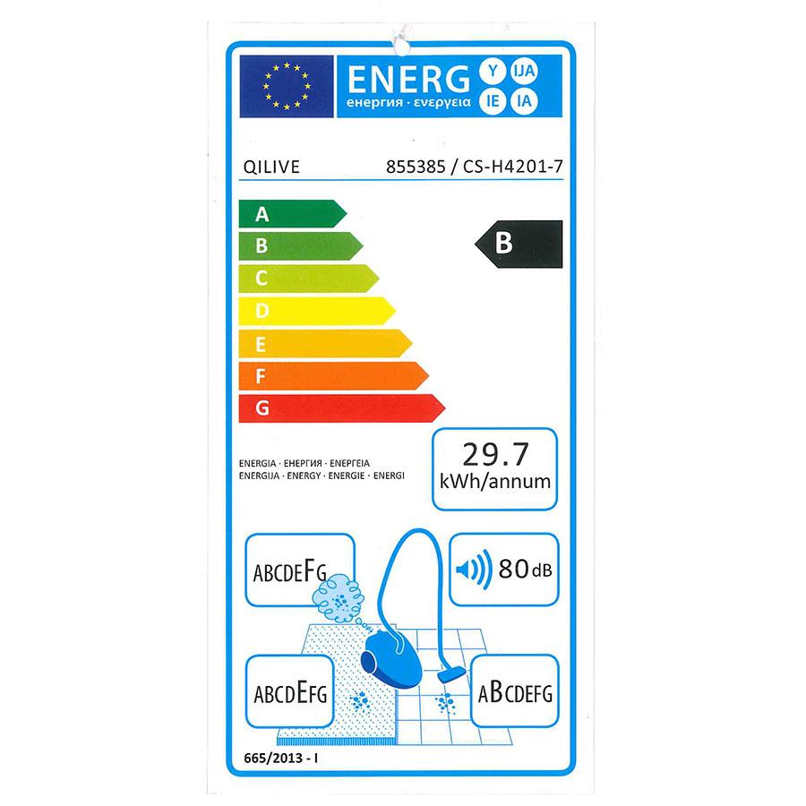 Qilive (Auchan) Q.5874 855385 CS-H4201-7 - Étiquette énergie