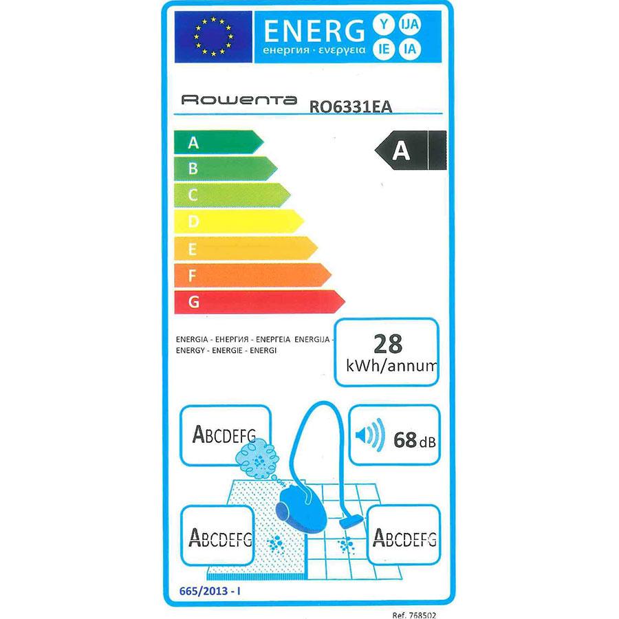 Rowenta RO6331EA Silence Force Compact 4A - Étiquette énergie