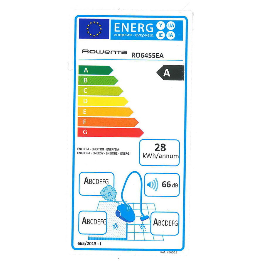 Rowenta RO6455EA Silence Force 4A - Étiquette énergie