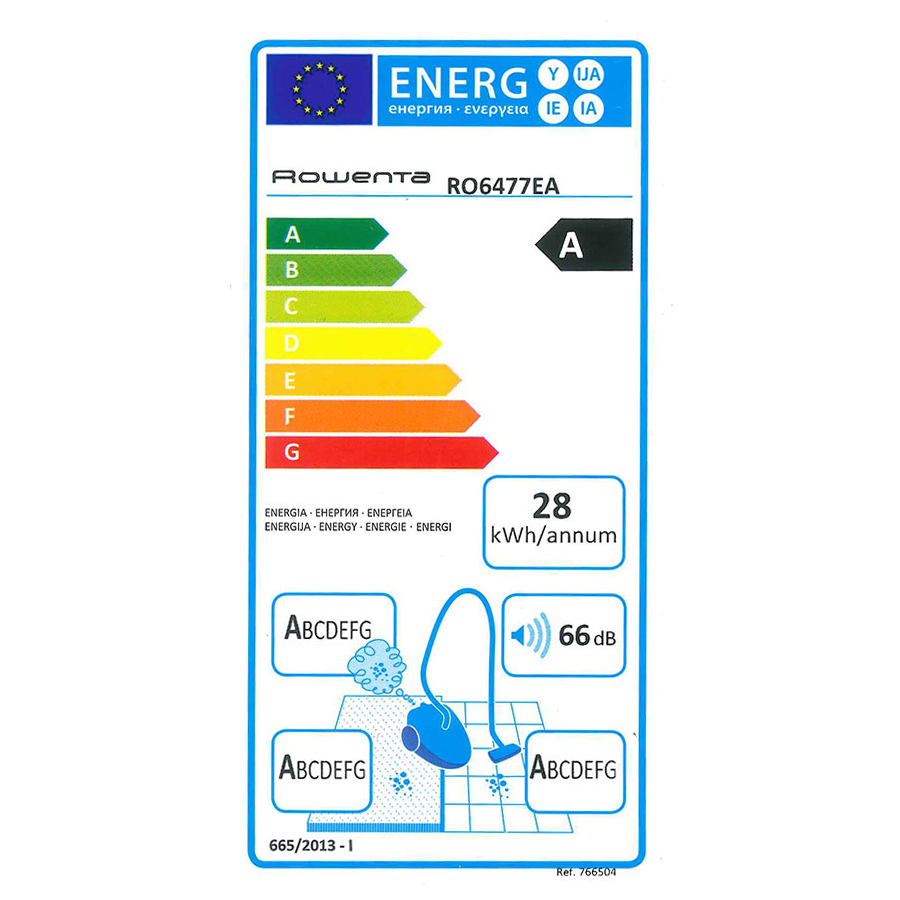 Rowenta RO6477EA Silence Force 4A - Étiquette énergie