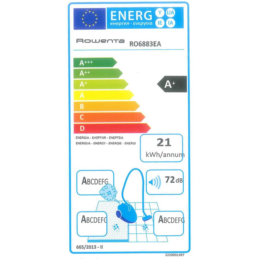 Rowenta RO6883EA X-trem power 4A+ - Étiquette énergie