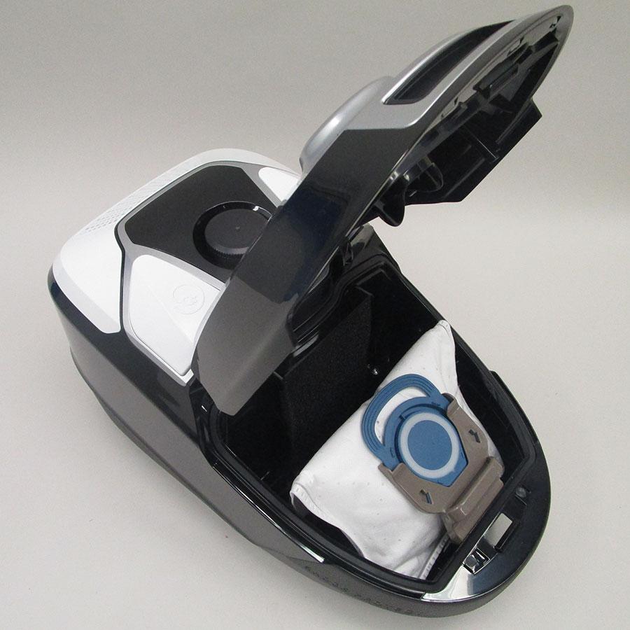 Rowenta RO6887EA X-Trem Power 4A+ Car Pro - Compartiment à sac ouvert