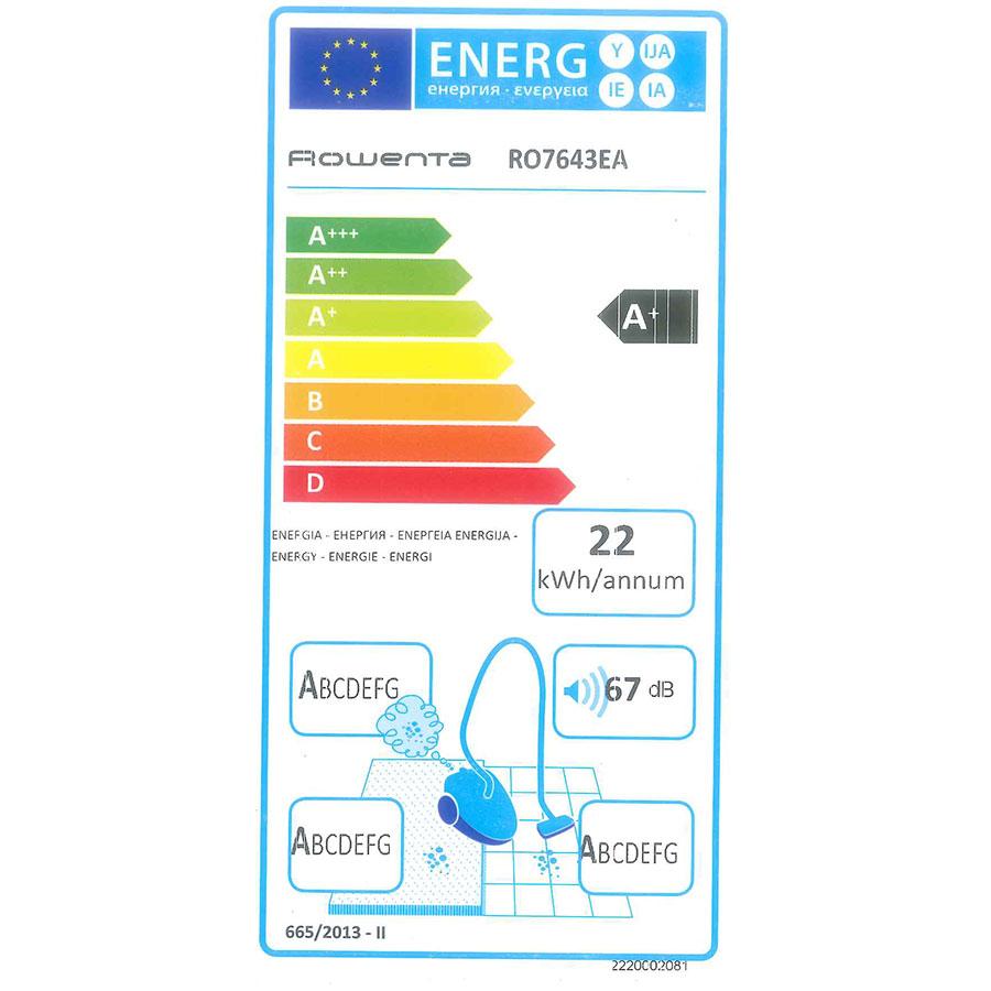 Rowenta RO7643EA Silence Force Cyclonic 4A+ Home & Car - Étiquette énergie