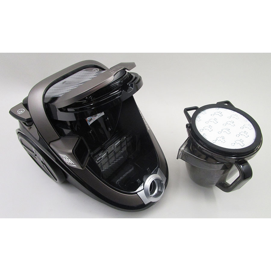 "Rowenta RO7676EA Silence Force Cyclonic 4A ""Home & Car Pro"" - Bac à poussières sorti"