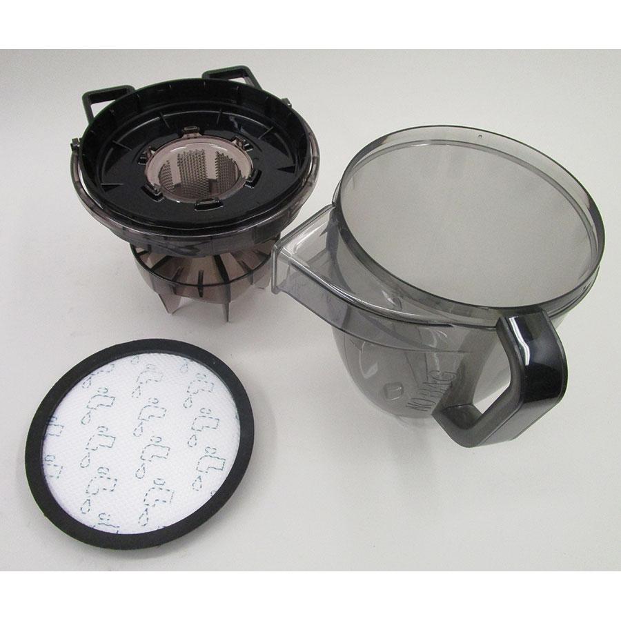 """Rowenta RO7676EA Silence Force Cyclonic 4A """"Home & Car Pro"""" - Réservoir à poussières avec son filtre sorti"""