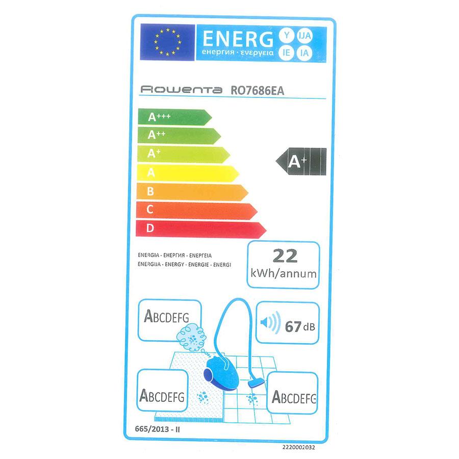 Rowenta RO7686EA Silence Force Cyclonic 4A+ Home & Car Pro - Étiquette énergie