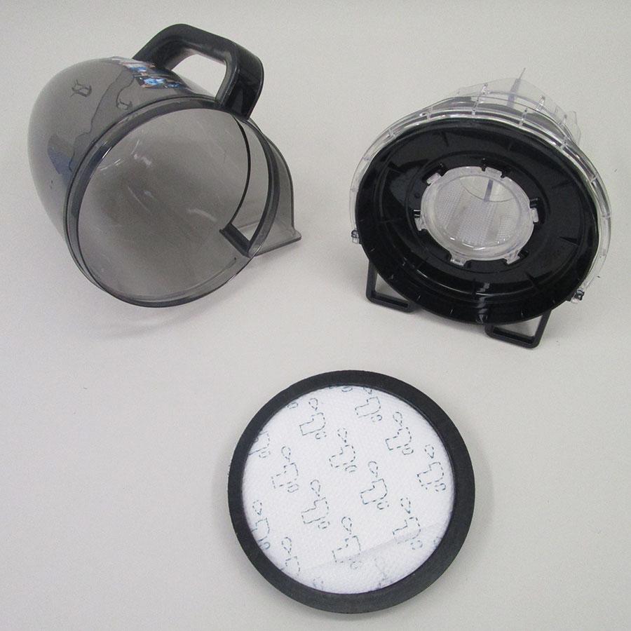 Rowenta RO7686EA Silence Force Cyclonic 4A+ Home & Car Pro - Réservoir à poussières avec son filtre sorti