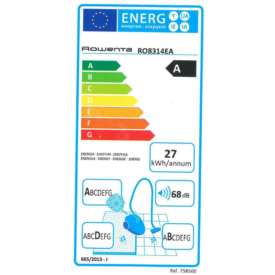 Rowenta RO8314EA Silence Force Multi-cyclonic - Étiquette énergie