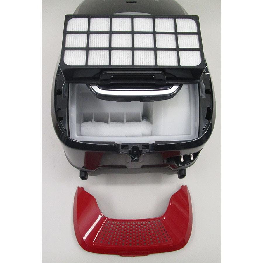 Rowenta YY4186FE X-Trem Power + Animal Kit  - Filtre sortie moteur sorti