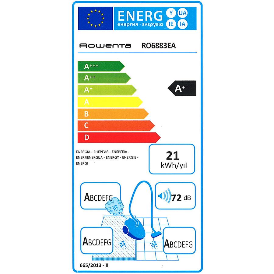 Rowenta YY4319FE X-Trem Power Animal Care Pro - Étiquette énergie