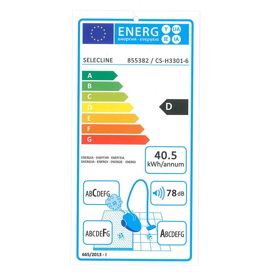 Selecline (Auchan) CS-H3301-6 855382 - Étiquette énergie