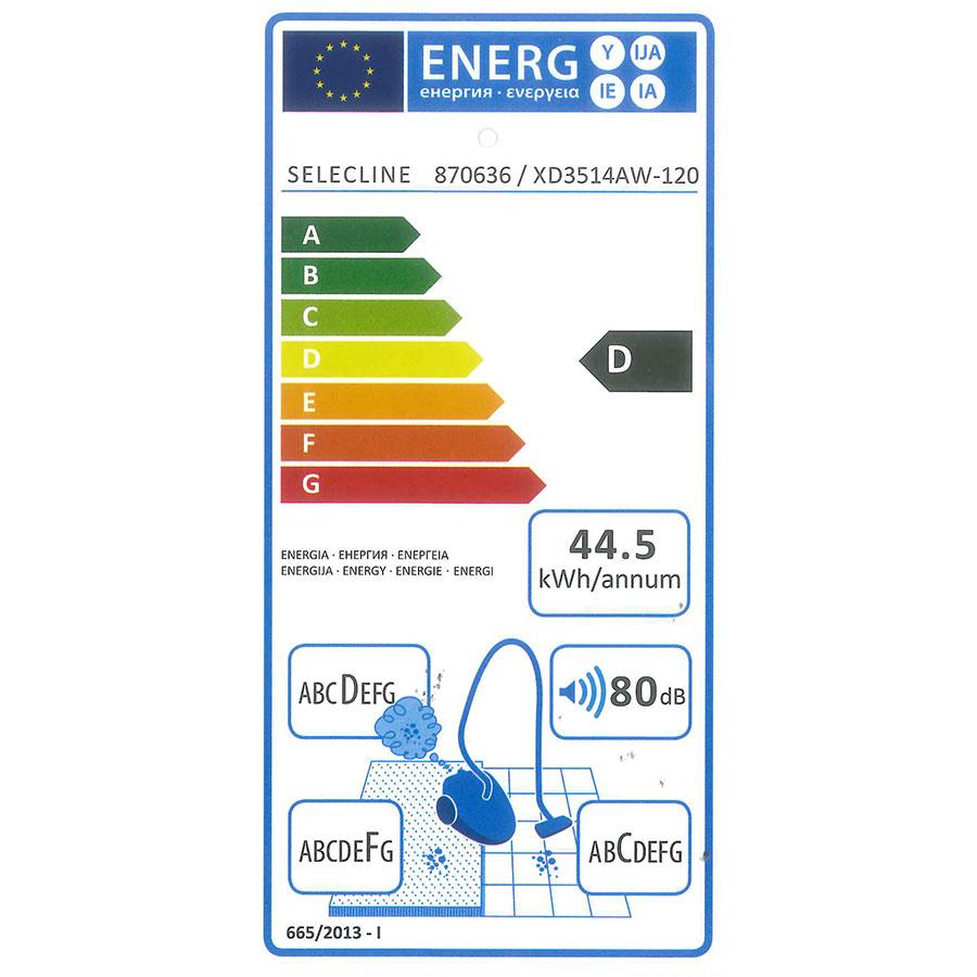 Selecline (Auchan) XD3514AW-120/870636 - Étiquette énergie