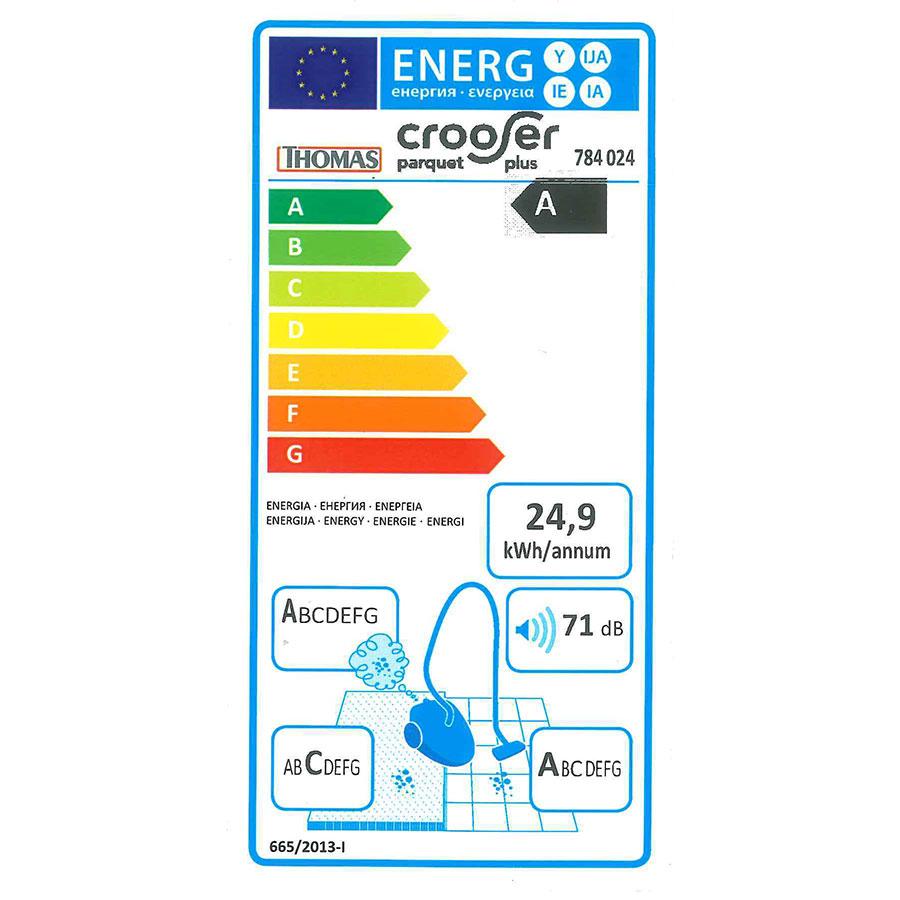 Thomas Crooser Parquet Plus 784-024 - Étiquette énergie