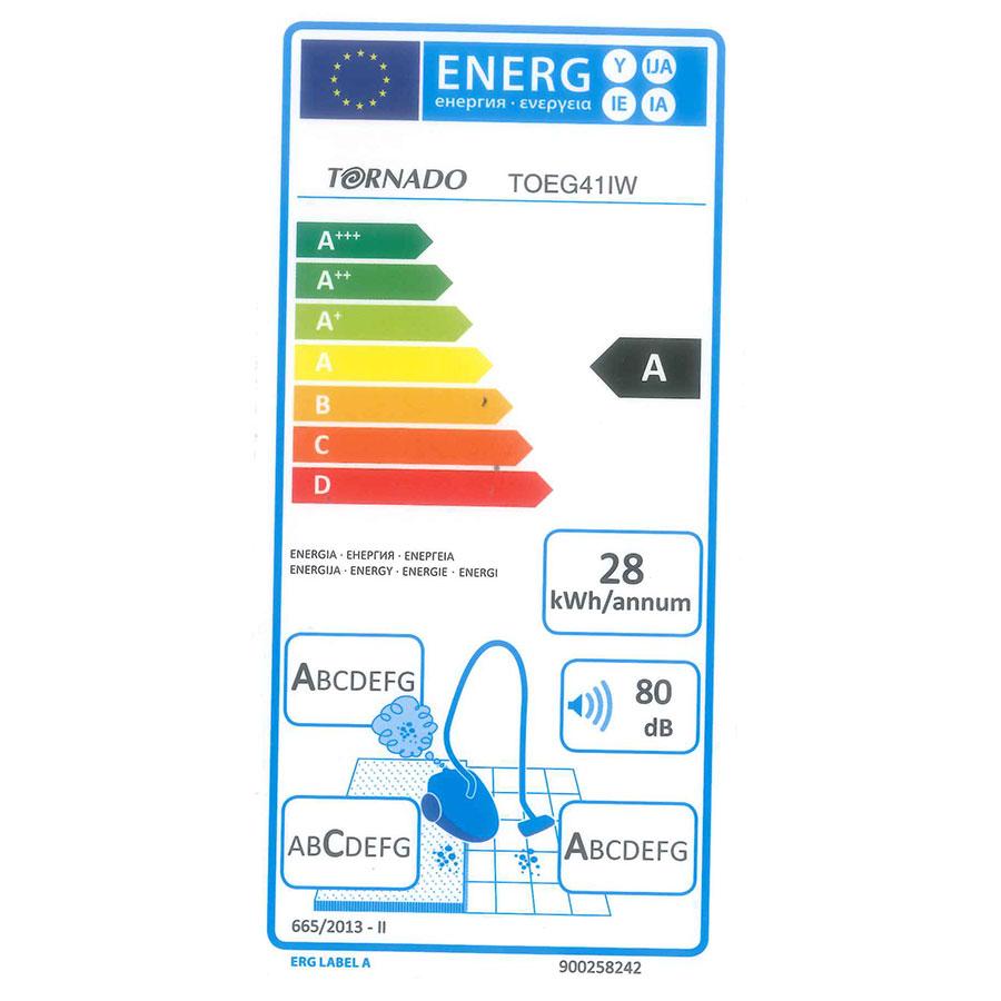 Tornado TOEG41IW Easy Go - Étiquette énergie
