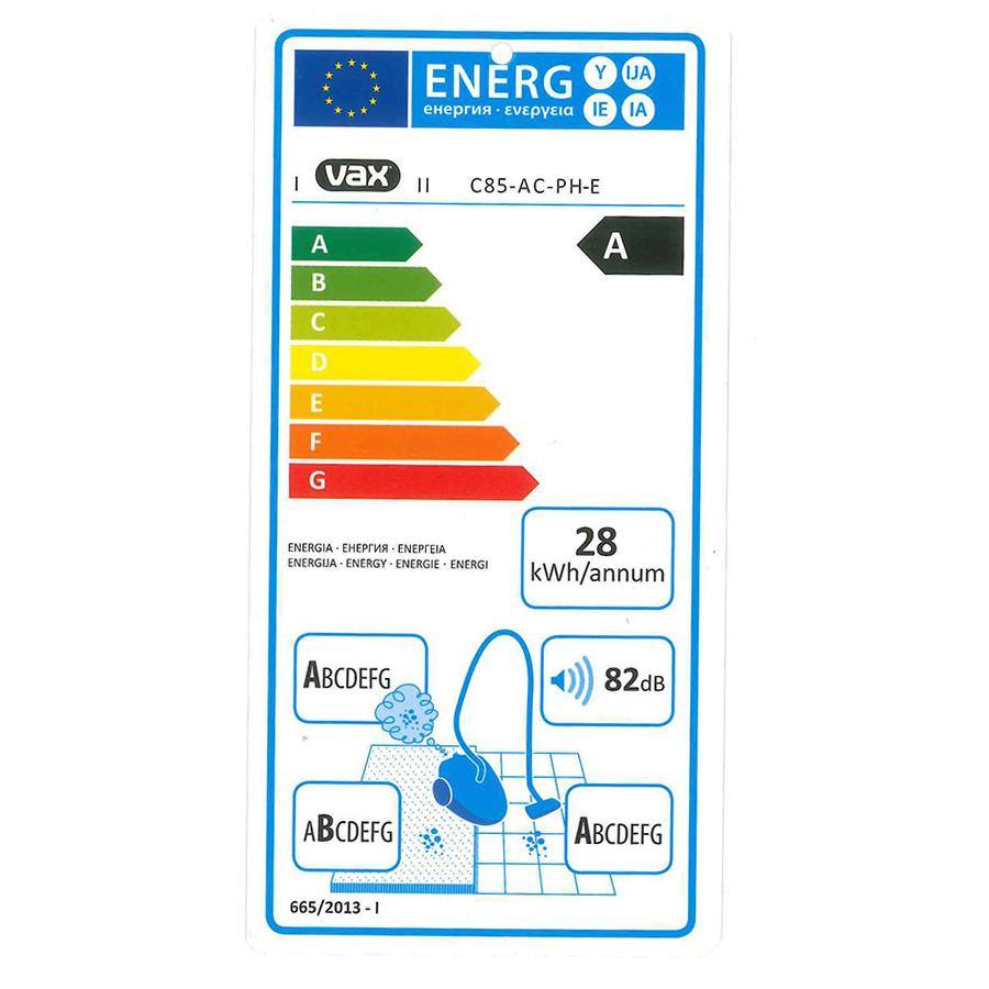 Vax Air Revolve C85-AC-PH-E - Étiquette énergie