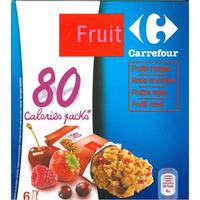 Carrefour 80 calories packs, fruits rouges