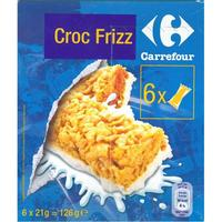Croc Frizz (Carrefour) Aux pétales de maïs enrobés de sucre avec un talon écrémé