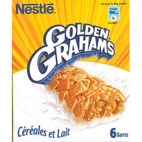 test golden grahams nestl c r ales et lait barres de c r ales pour enfants ufc que choisir. Black Bedroom Furniture Sets. Home Design Ideas