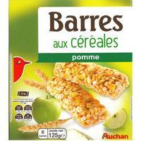 Auchan Barre de céréales pomme verte