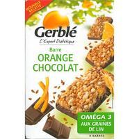 Gerblé Orange chocolat oméga3 graines de lin