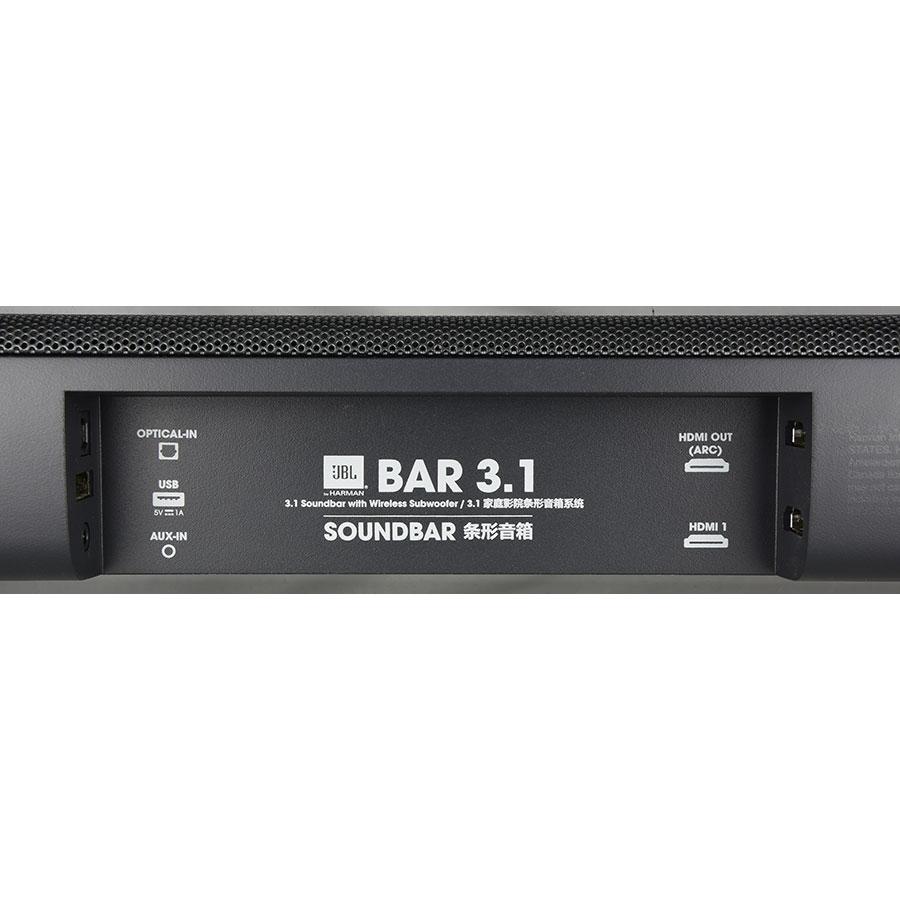 JBL Bar 3.1 - Connectique