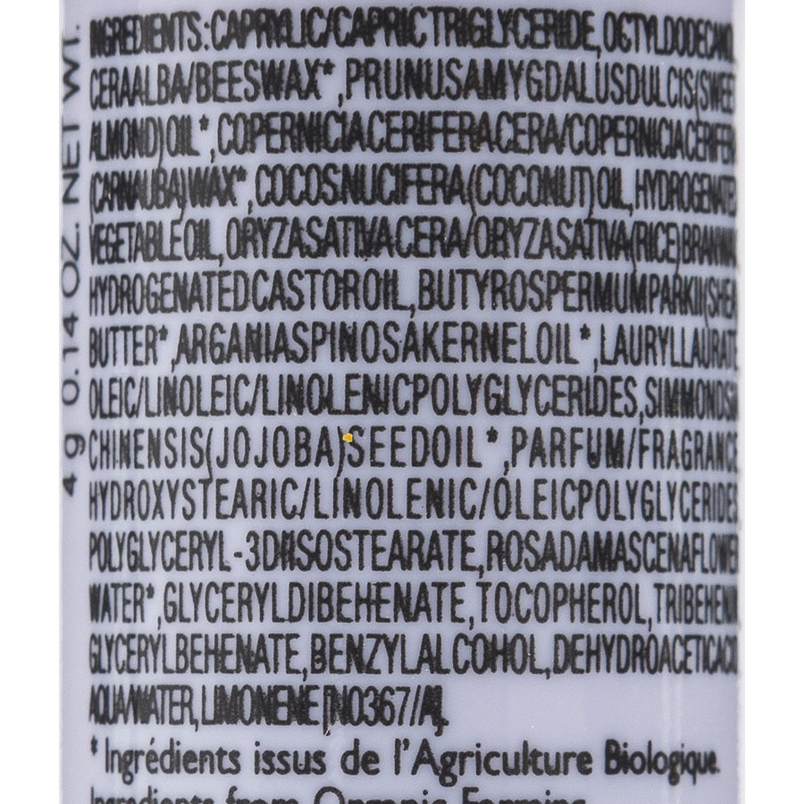 Bio beauté by Nuxe Stick lèvres haute nutrition 8 h - Liste des ingrédients