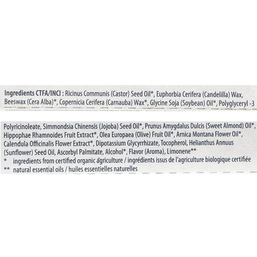 Lavera Basis sensitiv, baume à lèvres à l'huile de jojoba et à l'huile d'amade, bio - Liste des ingrédients