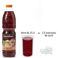 Carrefour Thé glacé saveur pêche - Nombre de morceaux de sucre par portion
