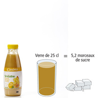 Casino Smoothie ananas mangue passion 								- Nombre de morceaux de sucre par portion