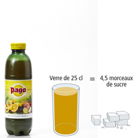 Pago Multivitamin tropical 								- Nombre de morceaux de sucre par portion
