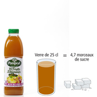Pampryl 10 fruits & vitamines 								- Nombre de morceaux de sucre par portion