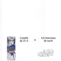 Psychik (Carrefour) Regular - Nombre de morceaux de sucre par portion