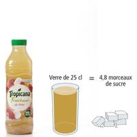 Tropicana Fraicheur litchi pomme - Nombre de morceaux de sucre par portion