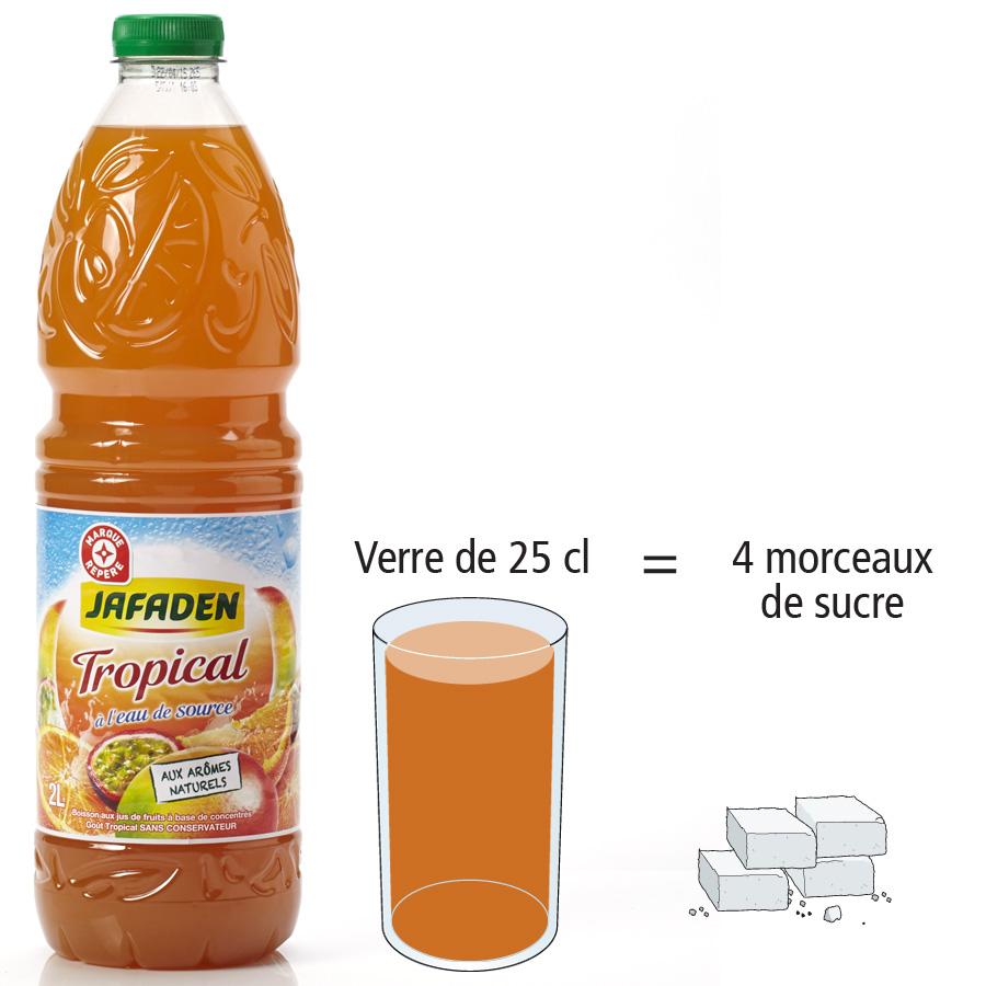Jafaden (Marque Repère Leclerc) Tropical - Nombre de morceaux de sucre par portion