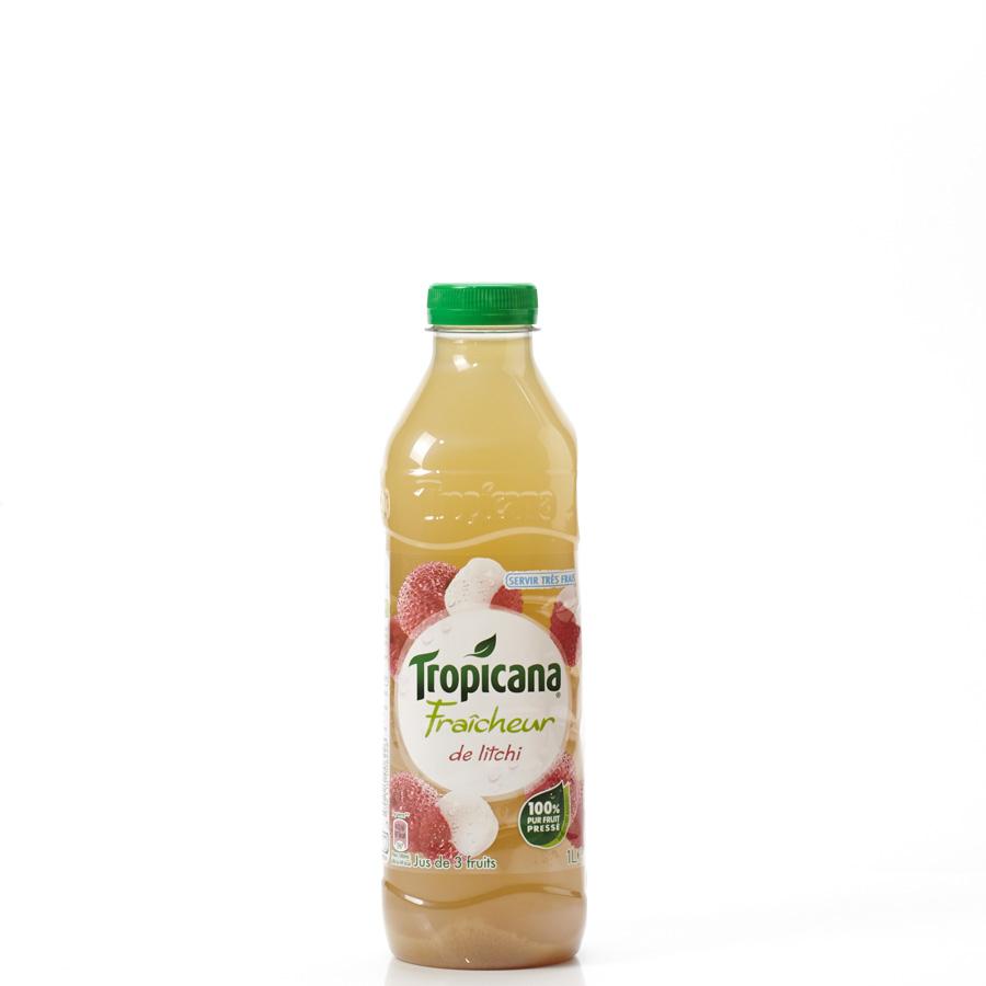 Tropicana Fraicheur litchi pomme - Vue principale