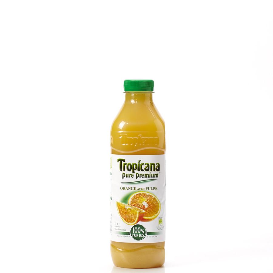 Tropicana Pure premium orange avec pulpe - Vue principale