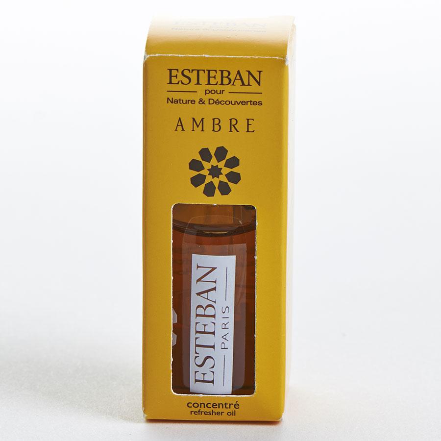 Esteban Concentré de parfum ambre utilisé avec le brûle-parfum Terrebrune de Nature & Découvertes -