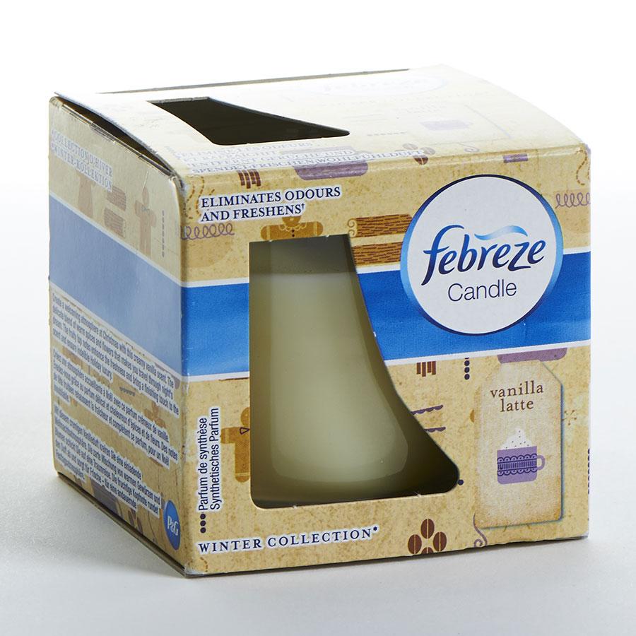 Febreze Candle Winter collection Vanilla Latte -