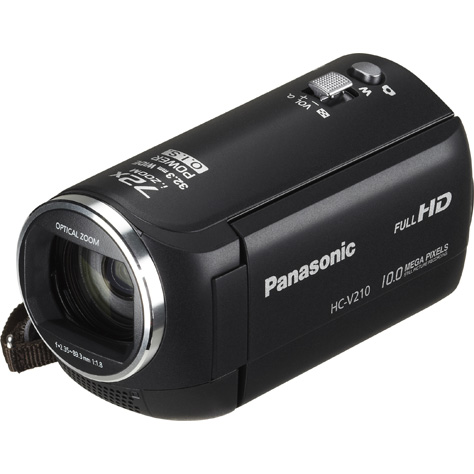 Panasonic HC-V210 - Vue principale