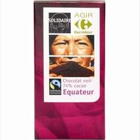Agir Carrefour Solidaire Chocolat noir 74% cacao Équateur