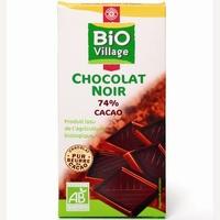 Bio Village Marque Repère (Leclerc) Chocolat noir 74% cacao