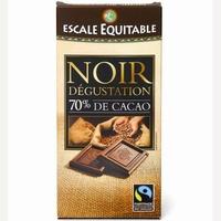 Escale Equitable Noir dégustation 70% de cacao