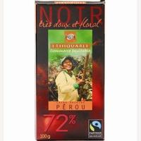 Ethiquable Noir très doux et floral Pérou 72%