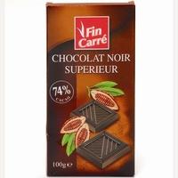 Fin Carré (Lidl) Chocolat noir Supérieur
