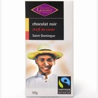 Monoprix Gourmet chocolat noir 72% de cacao Saint domingue
