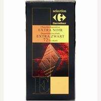 Sélection Carrefour Chocolat dégustation extra noir 72% cacao