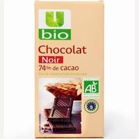 U bio Chocolat noir 74% de cacao