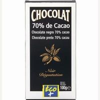 Éco+ (Leclerc) Chocolat 70% de cacao
