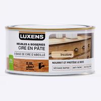 Luxens (Leroy Merlin) Cire en pâte meubles & boiseries