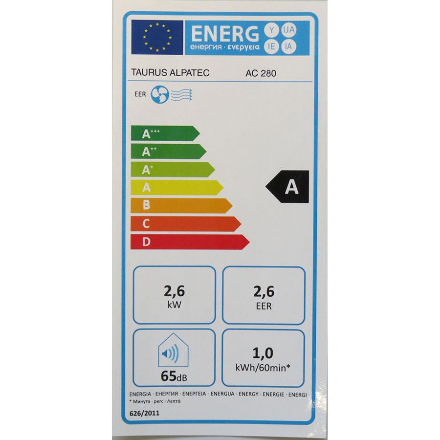 Taurus Alpatec AC 280 - Étiquette énergie